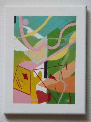 spraypaint on canvas (18 x 24 cm)
