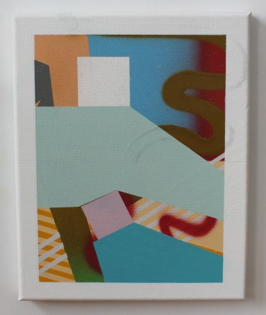 Spraypaint on canvas (24x30cm)